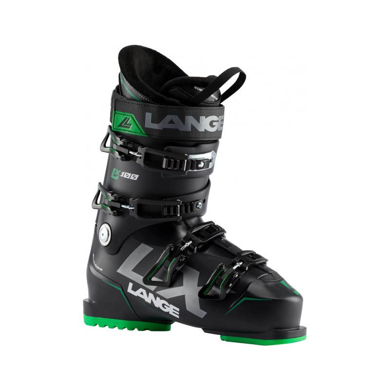 Lange - LX 100 Black/Green - Chaussure de ski homme