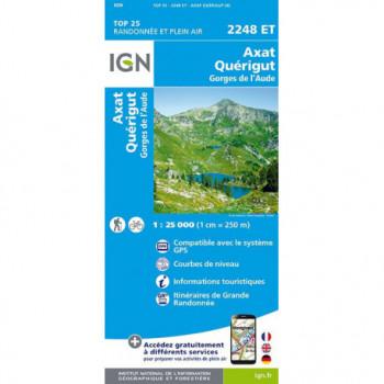 TOP25 2248ET AXAT-QUERIGUT GORGES DE L'AUDE IGN