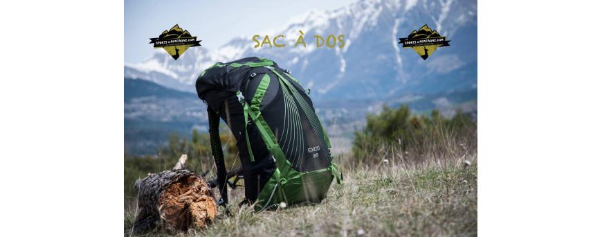 Sac à dos, de randonnée, trek, sac de voyage, sac à dos de randonnée de18L à 75 litres. Adapter à chaque morphologie. Dos tendu, homme ou femme.