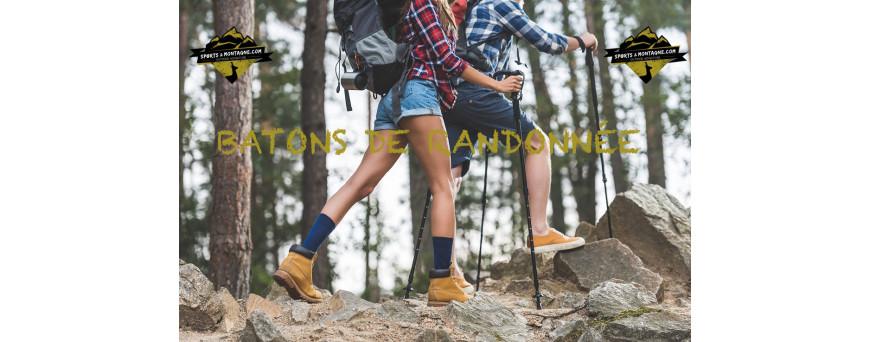 Bâtons de randonnée, bâtons de ski de randonnée, marche nordique, ski de fond. Bâtons monobrins, 2 brins ou 3 brins