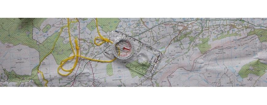 Carte IGN topographie, topoguide, cartographie, porte-carte IGN, boussole, boussole de randonnée