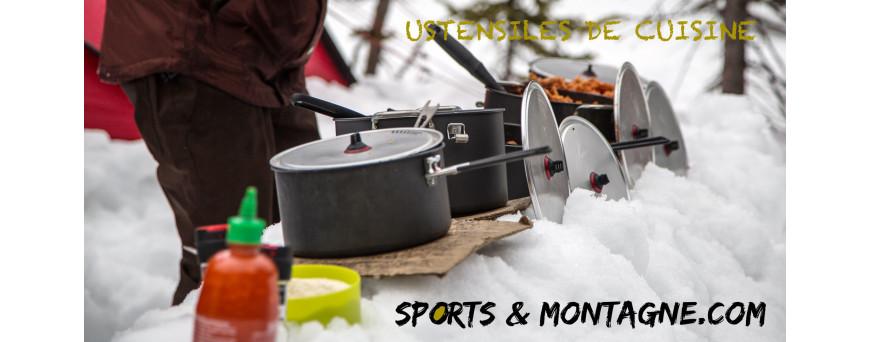 Ustensiles de cuisine camping, Couverts de randonnée, plats, couverts de voyage, couverts pliables, vaisselle pliable, popote inox, popote de bivouac, mug de randonnée