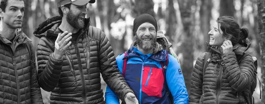 Veste de randonnée, été, hiver. Veste d'alpinisme goretex, étanche et respirante.