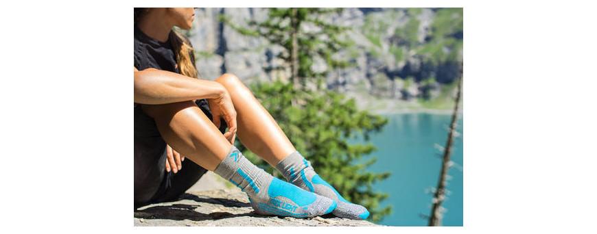 Chaussettes de randonnée, anti-ampoule, Coolmax, chaussettes hautes et basses